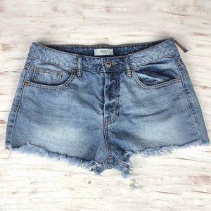 Forever 21 Distressed Raw Hem Denim Shorts Size 27